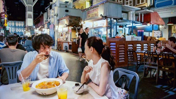 牛車水美食街(Chinatown Food Street) 家族のレシピ 真人(斎藤工)と美樹(松田聖子)がフィッシュヘッドカレーを食べていた場所