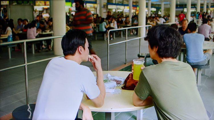 Tiong Bahru Food Centre 家族のレシピ 伯父さんと食事をしていたホーカー